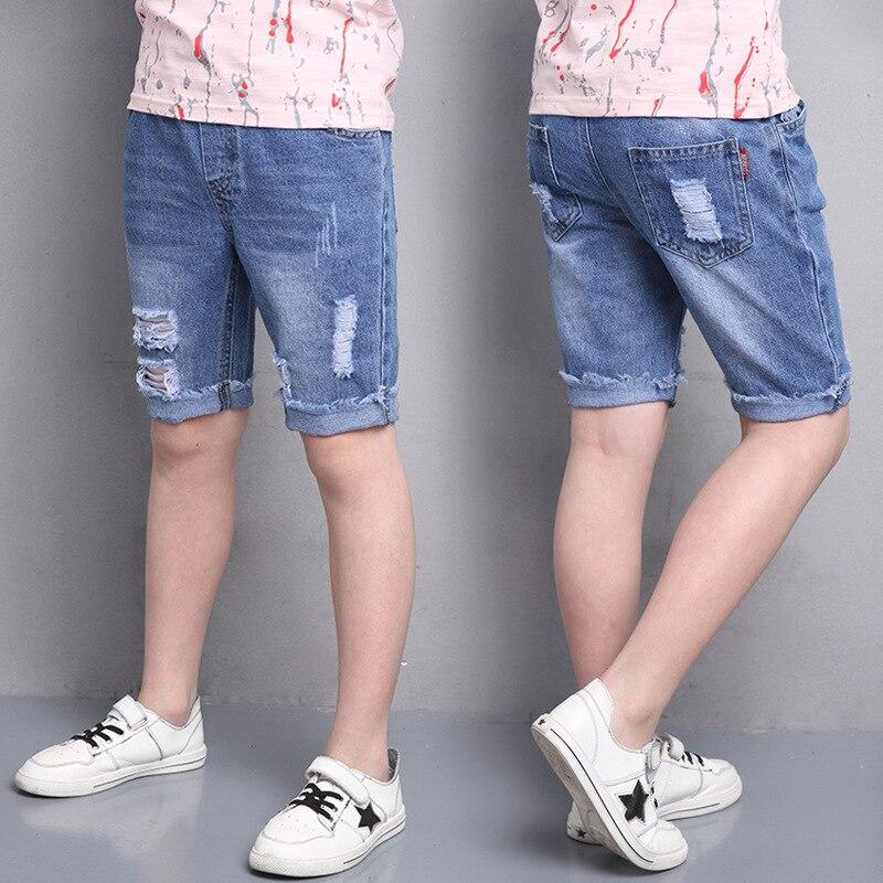 Kids Hole font b Jeans b font Kids Fashion Denim Pants font b Boys b font
