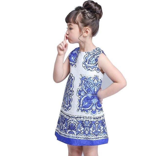 Children Clothing Designers   Biniduckling 2017 Summer Girls Dress Children Clothing Designer
