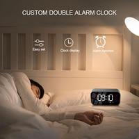 fm tf Bluetooth Portable Wireless Speaker Super Bass Music Mirror Sound Box Time Snooze Alarm Clock Support TF Card FM Radio Aux Input (5)