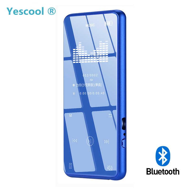 Yescool X8 金属タッチスクリーン MP4 Bluetooth 音楽プレーヤースポーツジョギング音声レコーダー電子書籍リーダー画像ビューア
