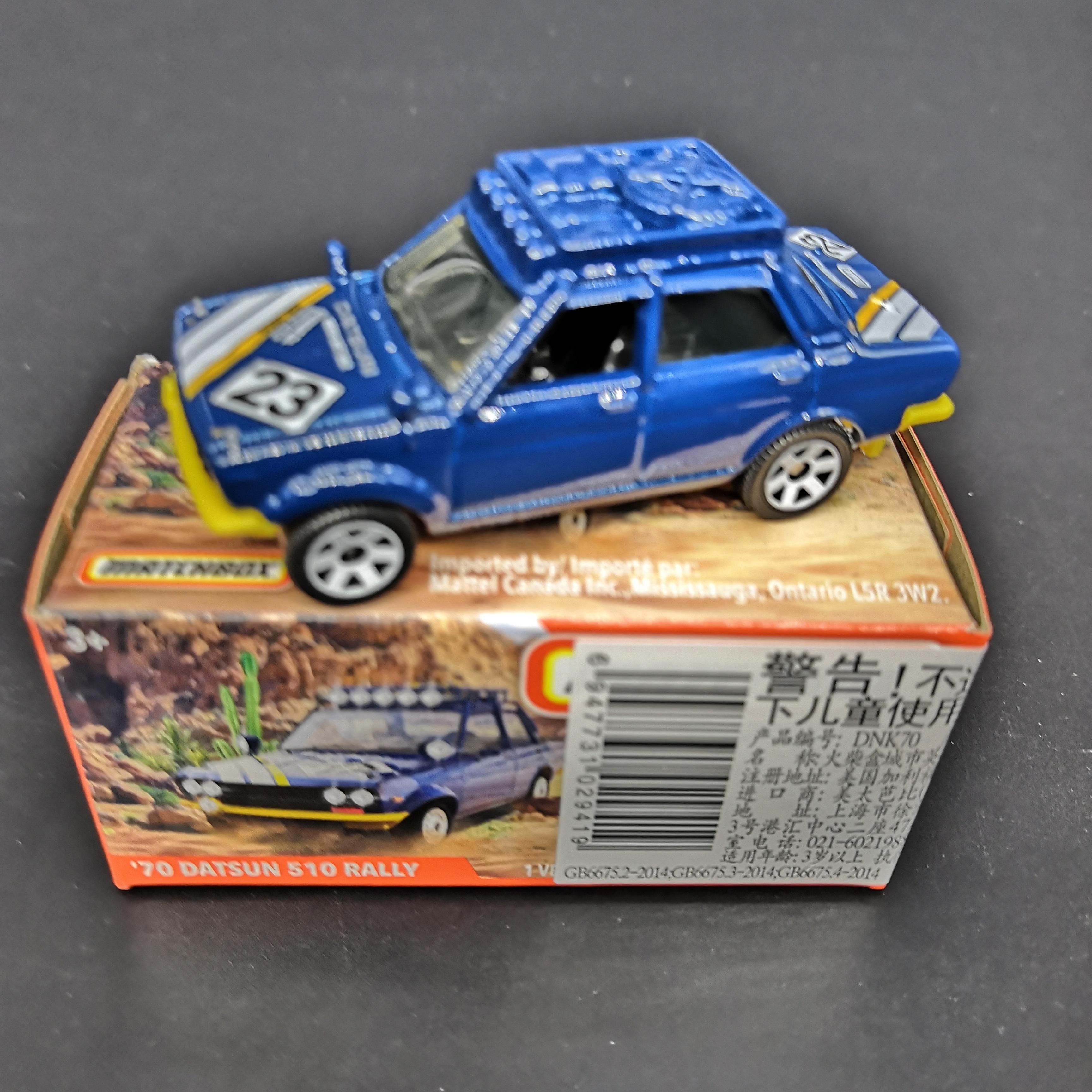 2019 Matchbox Car 1:64 Sports Car 70 DATSUN 510 RALLY  Metal Material Body Race Car Collection Alloy Car Gift