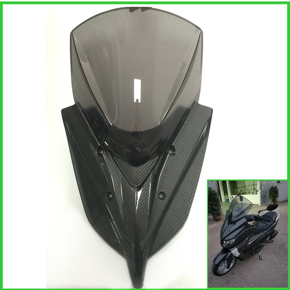 New Modified Motorcycle Windshield WindScreen Carbon fiber Wind Deflectors for Yamaha 2016 NMAX155 nmax motorcycle street bikes wind deflectors windshield windscreen for 2006 2014 yamaha fz1 fz1n fz6 s2 fz8 fz 6 8 dark smoke 08 12