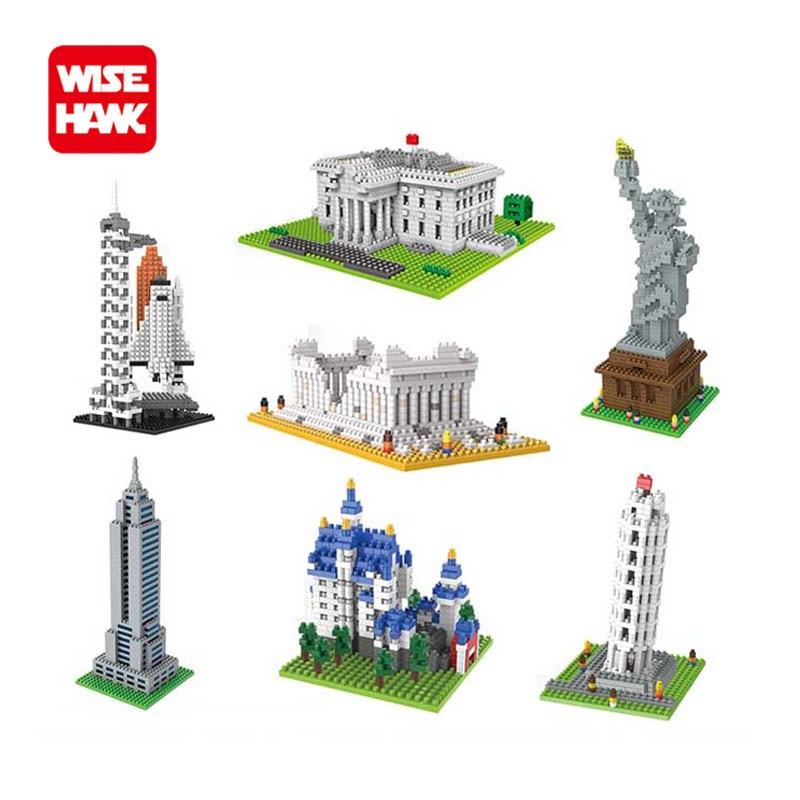 Hot toys nanoblock weltberühmte architektur Freiheitsstatue bausteine mini bau ziegelbau modell iblock spaß für kind.