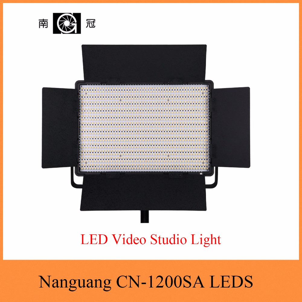 Nanguang CN-1200SA LEDS 5600K 10300 Lux LED Video Studio Light Panel with V Lock Battery Mount Extreme CRI RA 95 nanguang cn r640 cn r640 photography video studio 640 led continuous ring light 5600k day lighting led video light with tripod