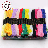 Free Shipping Hot Sell 100pcs Lot Yard 50 Different Colors Embroidery Thread Cross Stitch Thread Floss