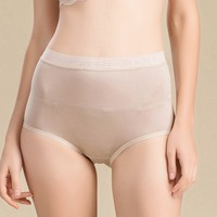 Paradise Silk Womens Panties 100 Pure Silk Knit High Waist Panties With Lace Trim Size M
