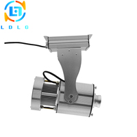 Silver Outdoor Advertising Static Image 80W LED Logo Projector Aluminum Alloy IP65 10000lm Custom Gobo LED Lamp Projector Lights