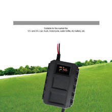 В 12 В умный аккумулятор светодио дный светодиодный цифровой дисплей Быстрый 20A свинцово-кислотный аккумулятор зарядное устройство EU/US для автомобиля Мотоцикл Горячий