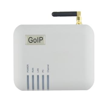 Darmowa dostawa! Bramka VOIP GoIP-1 bramka VoIP retransmituj identyfikator dzwoniącego GSM na terminal VoIP tanie i dobre opinie YANHUI Brama VoIP 13*10*6(cm) grey 12V DC