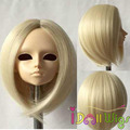 Good Quality Light Blonde Short Cut BJD Doll Wig Cool Style 1/3 1/4 1/6 for Choice