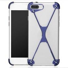 Bumper Case for iPhone 7 8 plus, Slim Aluminum Metal X-Frame Phone Bumpers with Screw