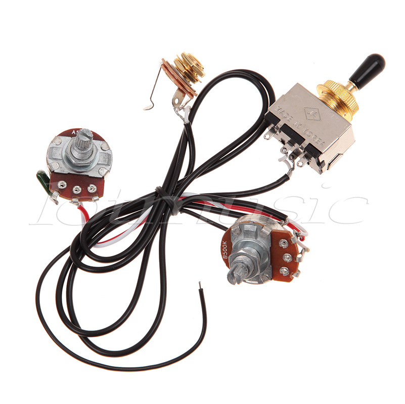 two pickup wiring harness, golden 500k toggle, black great with humbuckers|pickup  wire|wire pickuphumbucker pickup - aliexpress  www.aliexpress.com