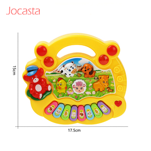 Image 5 - 2 Types Farm Animal Sound Kids Piano Music Toy Musical Animals Sounding Keyboard Piano Baby Playing Type Musical Instruments