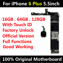 Original Motherboard For iPhone 6 Plus 5 5inch Factory Unlock Mainboard With Touch ID IOS Update Support Free Shipping cheap For Original iPhone 6 Plus 5 5inch Apple iPhone Apple iPhones HHXHH 100 Original Used and Good Working Full QC Tested 16GB 64GB 128GB for option