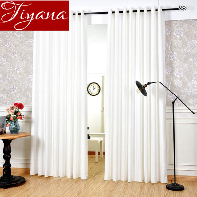 US $17.35 |Pure White Curtains Jacquard Curtains Modern Window Living Room  Curtains Bedroom Curtians Tulle Sheer Fabrics Cortinas X256 #30-in Curtains  ...