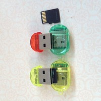 MINI USB 2.0 TF Nano Micro SD SDHC SDXC Memory Card Reader Writer USB Flash Drive Memory Card Readers Random Color Card Readers