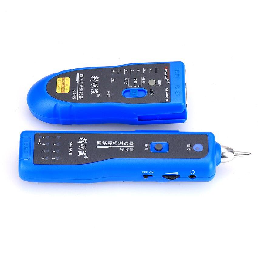 KELUSHI livraison gratuite réseau RJ11 RJ45 réseau LAN câble tracker localisateur de défaut et testeur de câble LAN testeur de câble NF-801B - 4
