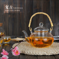 Heat resistant Glass Tea Pot With Stainless Steel Filter Chinese Kung Fu Kettle Cup and Teapot