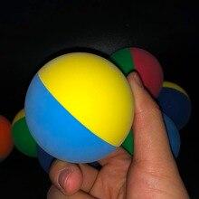 1 шт 6 см двухцветная ракетка, мяч для сквоша низкая скорость резиновый полый мяч для сквоша тренировочный для соревнований высокая эластичность случайный цвет