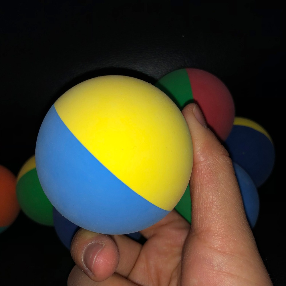1 Piece 6cm Bi-color Racquet Ball Squash Low Speed Rubber Hollow Squash Ball Training Competition High Elasticity Random Color