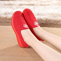 Fashion Casual  Autumn new  Breathable shoes Lazy  Shoe Women Foot Slip-on flats Loafers Network Famale shoes J011