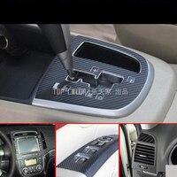 Brand New Car Interior Center Console Color Change Carbon Fiber Molding Sticker Decals For Hyundai Santa