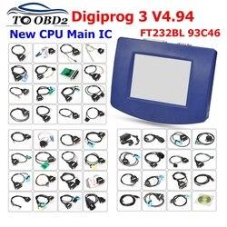 Горячая Распродажа DHL Бесплатная Digiprog 3 v4.94 OBD ST01 ST04 DIGIPROG III одометр Регулировка программиста Digiprog3 Пробег Правильный Инструмент