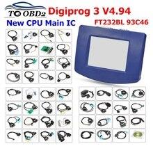 מכירה לוהטת DHL משלוח Digiprog 3 v4.94 OBD ST01 ST04 DIGIPROG III מד מרחק להתאים מתכנת Digiprog3 קילומטראז נכון כלי
