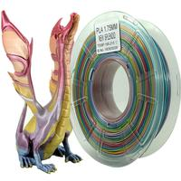 3D Printing Consumables PLA 1.75mm Rainbow Multicolor Gradient 1kg Pla Filament Silk surface texture high gloss smooth