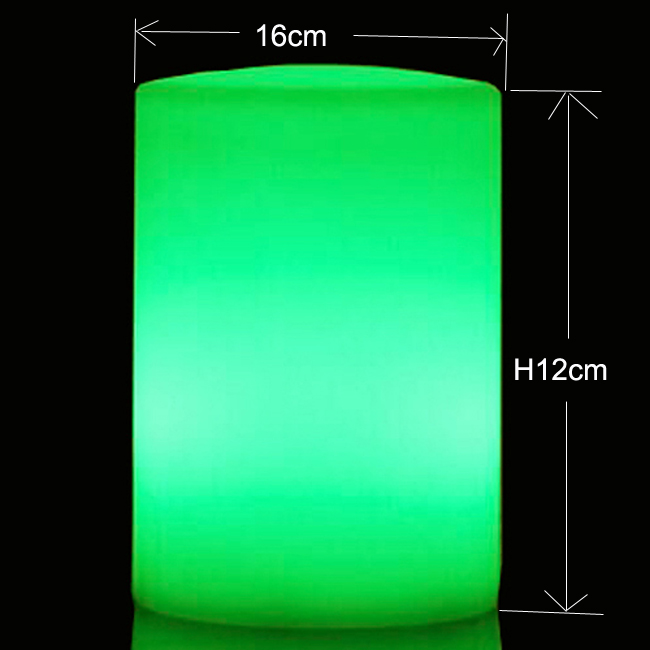 D16*H12cm Safty Cylindrical Flickering LED Candle Light Flameless for Garden Yard / Christmas Night Light Lampa Decoration 10pcs