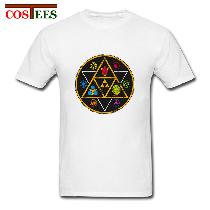 Symbols of Time zelda T shirts men vintage inspired video game t-shirt 2018  new Fashion Boys retro tee shirt camisetas masculina