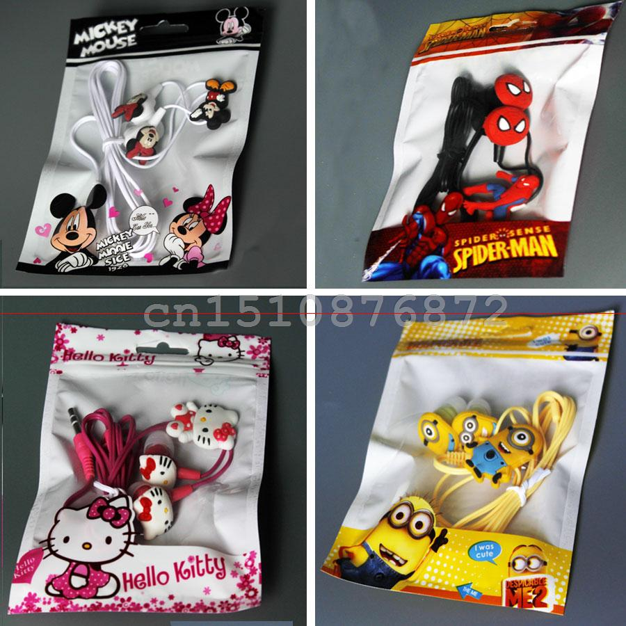 Gift Cartoon Avenger Earphones Headset 3.5mm Jake Stereo For Iphone5 Samsung With Pretty Packaging
