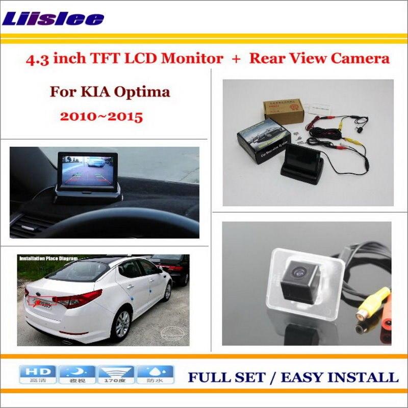 Liislee pour KIA Optima 2010 ~ 2015 caméra de stationnement de voiture + 4.3