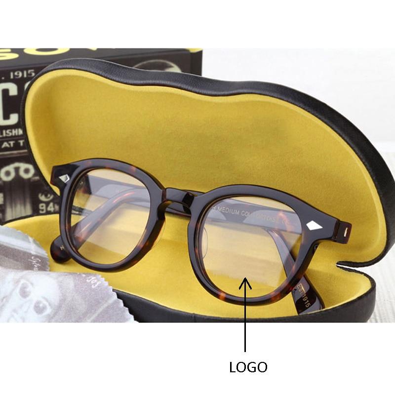 Johnny Depp Glasses Men Women Computer Goggles Round Transparent Eyeglass Brand Design Acetate Style Vintage Glasses Frame Sq004