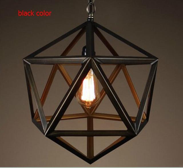 2017 American Vintage Loft Pendant Lights Nordico Rustic Cage Edison Hanglamp Iron Lampshade Decor Lamp Fixtures
