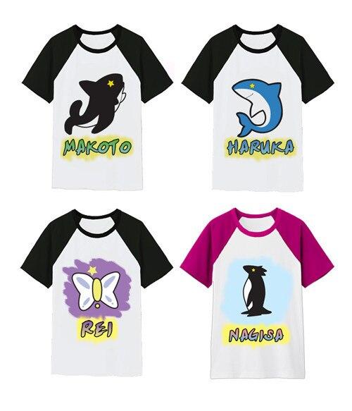 Бесплатная доставка бесплатная! -Бесплатно Плавание Club Макото/Харука/nagisa/Рей футболка из 100% хлопка анимации Косплэй костюм