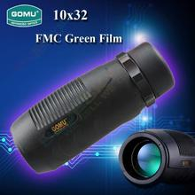 Cheap price Free shipping GOMU Waterproof FMC Green Film Monocular Telescope 10X32 Wide Angle HD Imaging Monocular Telescope Spotting scope