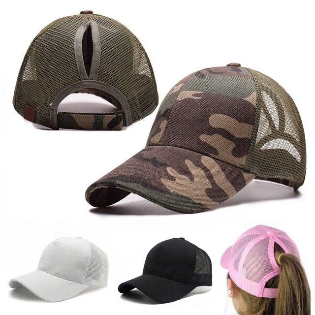 Camouflage Mesh Baseball Cap Ponytail Hats For Women Messy Bun Snapback  Caps Summer Autumn Camo Outdoor Hat 7f7178652723