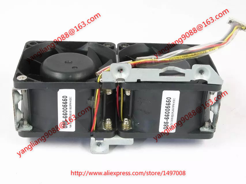 Nidec   085-66005650 6-wire 6-pin   Server  Square fan free shipping for nidec m35556 35del12f dc 12v 1 0a 4 wire 4 pin connector 90mm 92x92x38mm server square fan