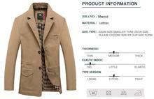 Mwxsd brand men casual cotton Blazer for Autumn winter men's cotton suit Jacket male slim fit jaqueta blazer masculino
