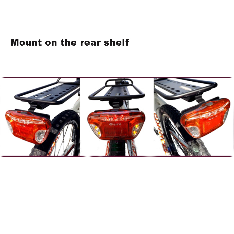Buy Q Lite Bicycle Carrier Shelf Rear Lights Bike