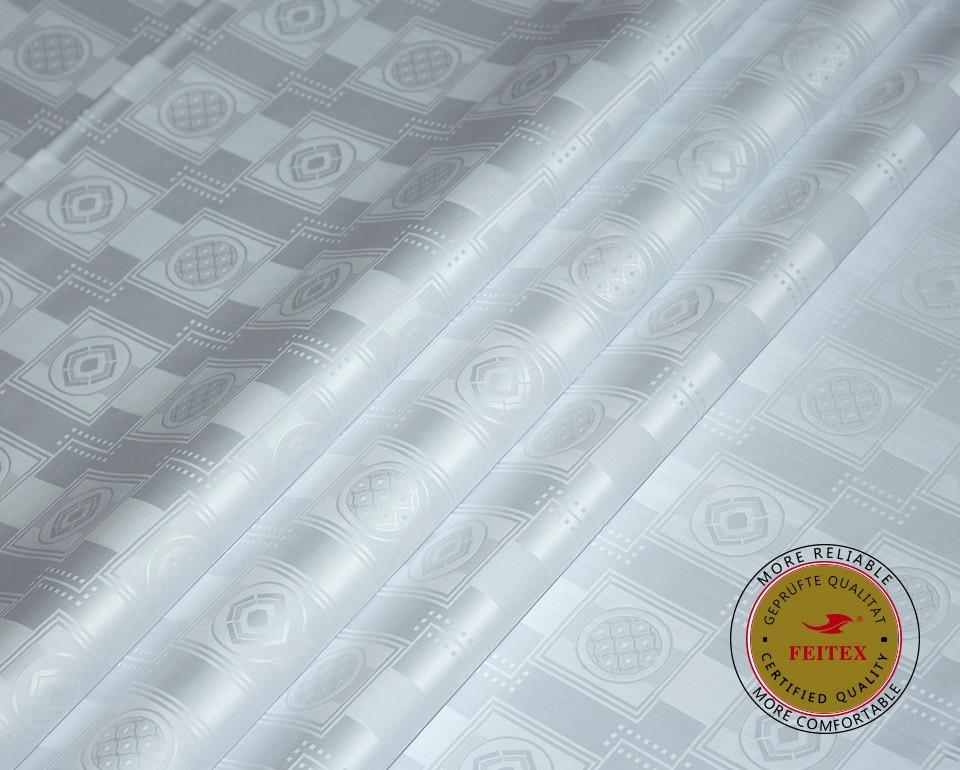 Getzner сапасына ұқсас Bazin Riche Fabric White Colour - Өнер, қолөнер және тігін - фото 1