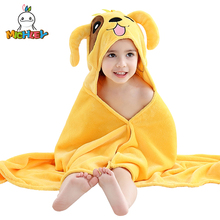 MICHLEY Children Bathrobe 2019 New Arrived Cotton Baby Boy Cute Shawl puppy Clothing Girls Colorful Animal Pajamas Child Towel A