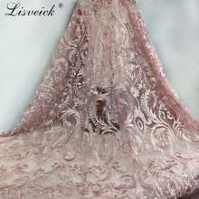 2019 New Style high quality exquisite embroidery lace fabric gorgeous mesh tulle for wedding French African
