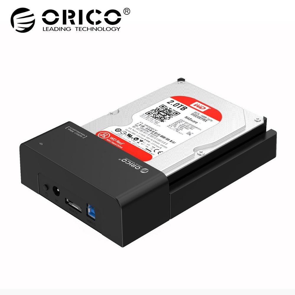 ORICO USB 3.0 et eSATA 2.5 et 3.5 SATA Disque Dur Station D'accueil Outil Livraison pour 2.5 pouce et 3.5 pouce DISQUE DUR-Noir (6518SUS3-V2)