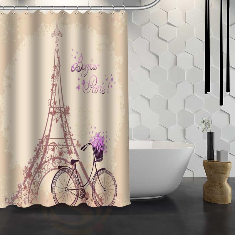 Custom Paris Eiffel Tower Shower Curtain Waterproof Fabric Shower Curtain  For Bathroom WJY1.17 In Shower Curtains From Home U0026 Garden On  Aliexpress.com ...