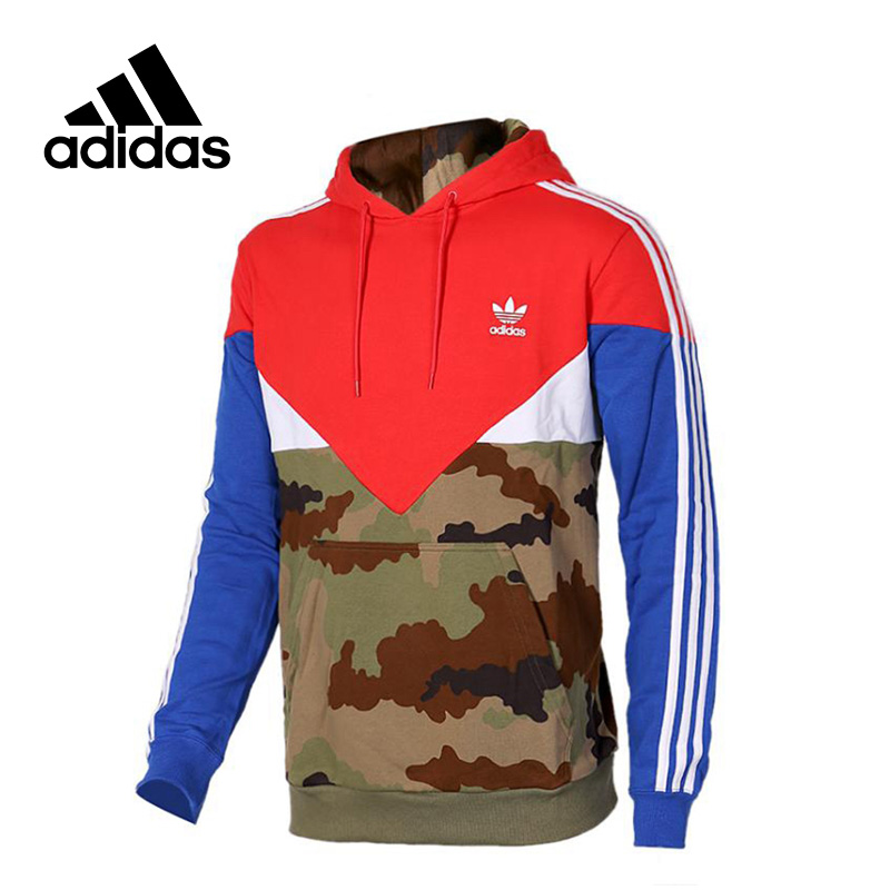 New Arrival Authentic Adidas Originals Men's Hooded Leisure Breathable Pullover Sportswear original new arrival official adidas originals women s breathable pullover hooded leisure sportswear good quality cv9437