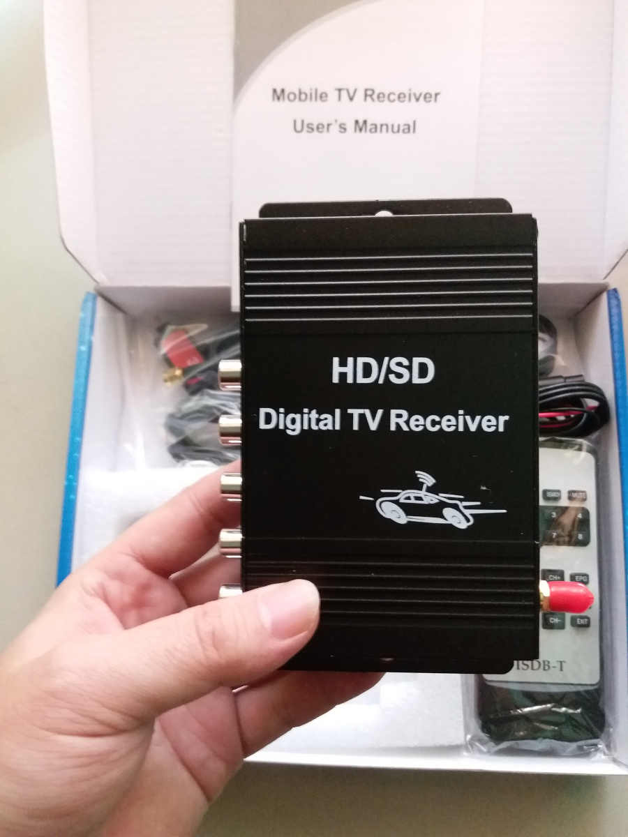 Digital Car TV Tuner ISDB-T 140-190km/h ISDB T TV Car For Brazil South America chile Argentina Peru Japan