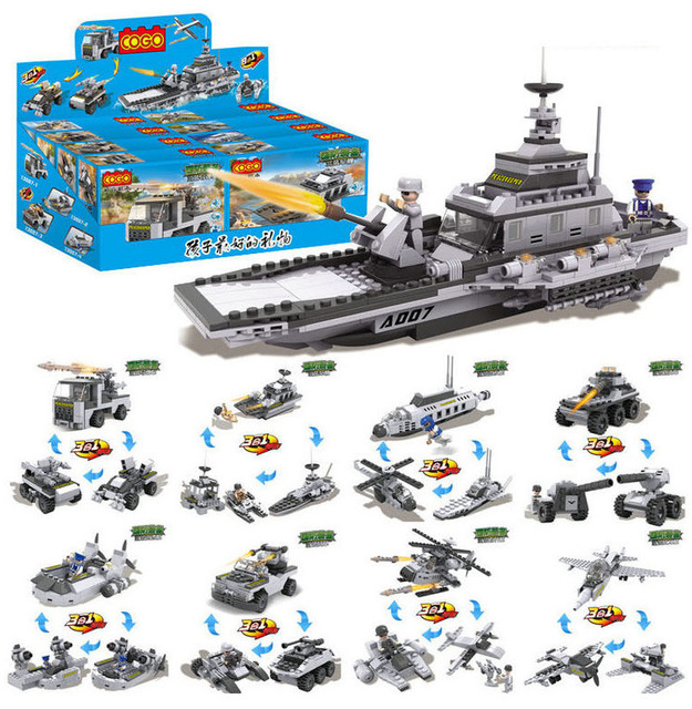 8 sets Block toy technic Toy star wars craft Aircraft carrier ...