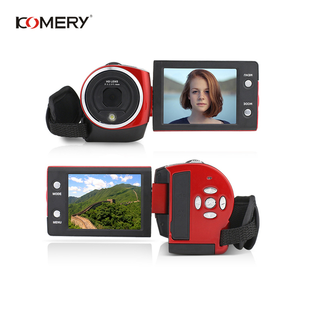 KOMERY HD Video Camera 2.7 Inch LCD screen 16x Zoom Digital Anti-shake Mini Camcorder camara fotografica digital professional 5